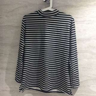 Long Sleeved Top With High Neck