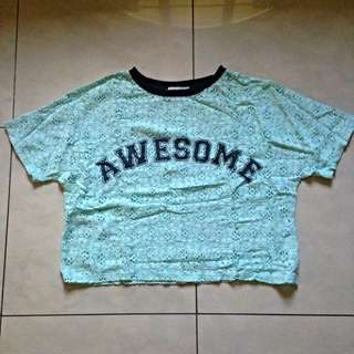 """Just G """"Awesome"""" Crop Top"""