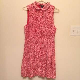Floral Button Up Dress M
