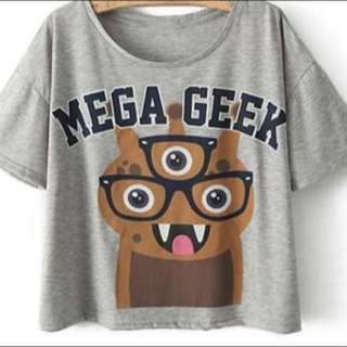 Mega Geek Crop Top