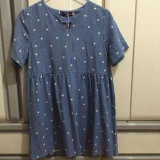 藍色星星裙
