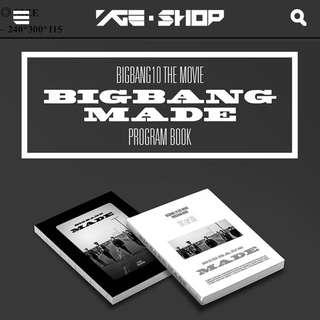 (已售誤下標)BIGBANG MADE 電影寫真書,預計月底前到貨