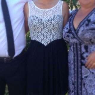 Black And White 'Dotti' Dress