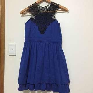 'ICE' Black And Blue Dress