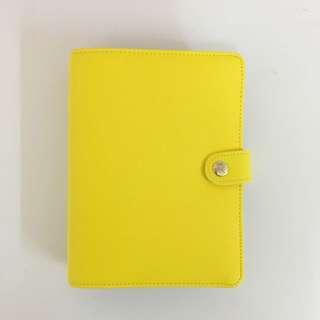 Kikki K Leather Planner Yellow