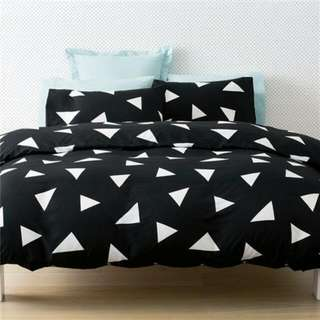 geometric single bed set