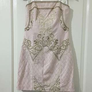 Forever New Light Pink Formal Dress With Beautiful Beadings
