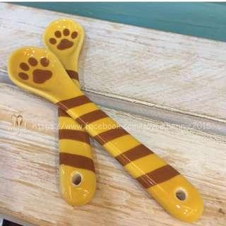虎斑貓陶瓷湯匙