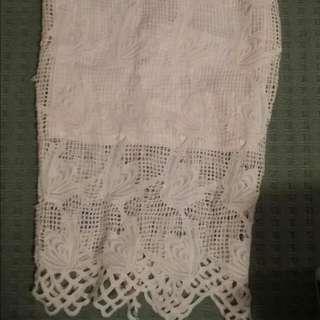 Midi Lace Skirt
