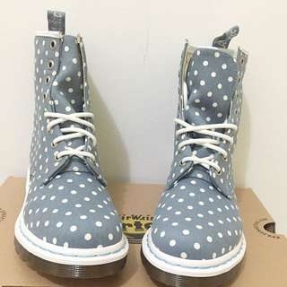 Brand New DR MARTENS Airwair Polka Dot boots Size 6