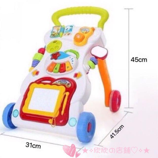 驚喜大優惠🎉工廠批發價含運費✨嬰幼兒多功能音樂手推學步車💕