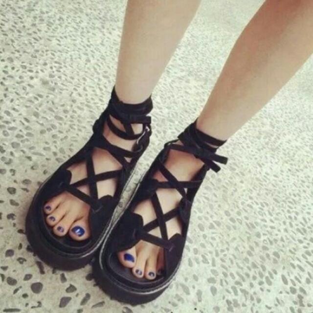 羅馬交叉綁帶涼鞋