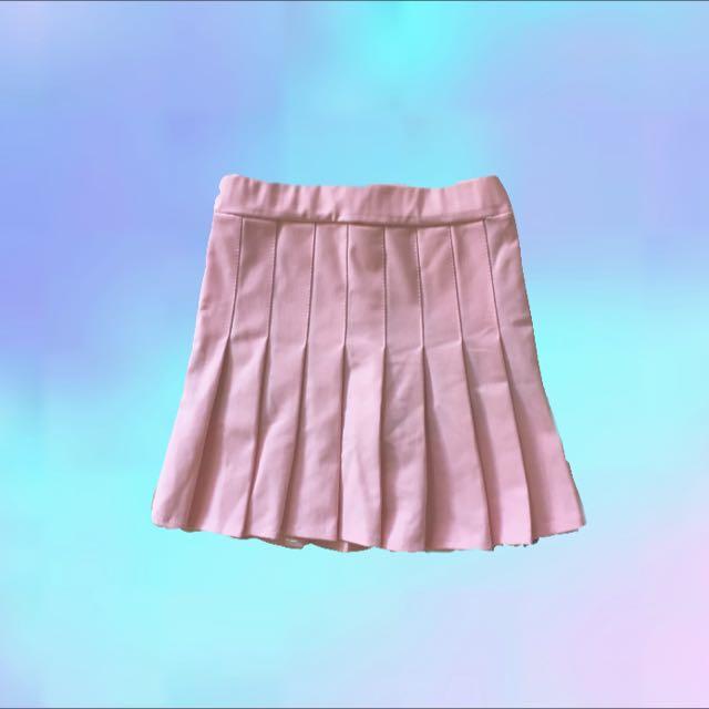 粉 百摺裙(保留)