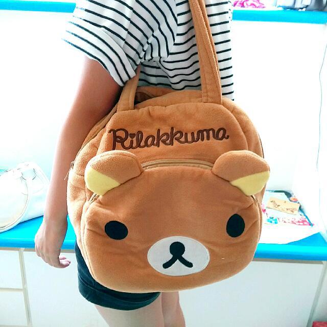 【二手】拉拉熊正版手提包 側包