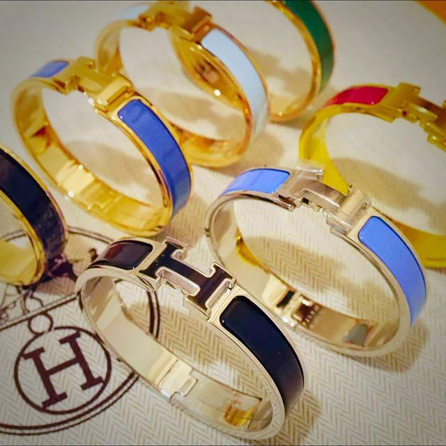 全新正品 Hermes Hclick 珐朗手環 有購證