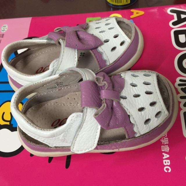 亞特伯斯 Octapus 紫色牛皮 魔鬼氈 包鞋
