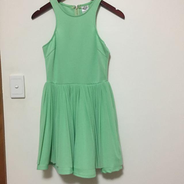 'Angel Bird' Lime/green Dress