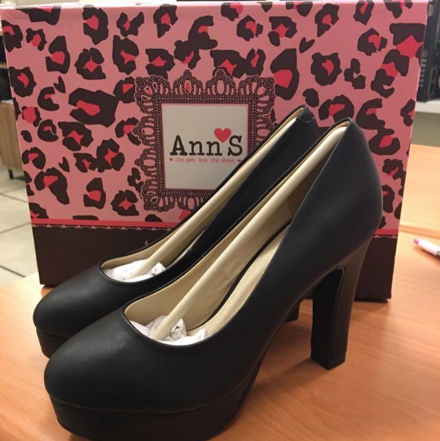 Ann's 粗跟厚底22.5號高跟鞋(售價含運)
