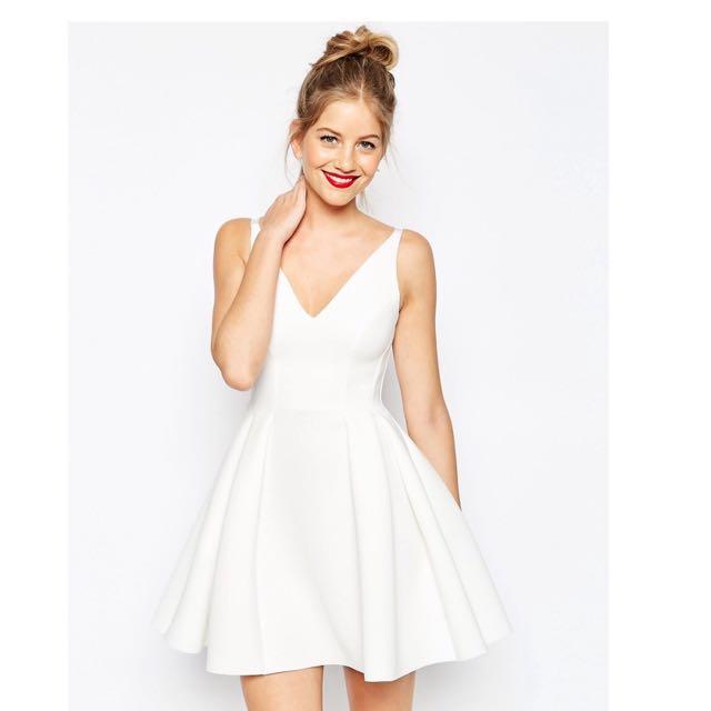 ASOS Premium High Apex Bonded Skater Dress