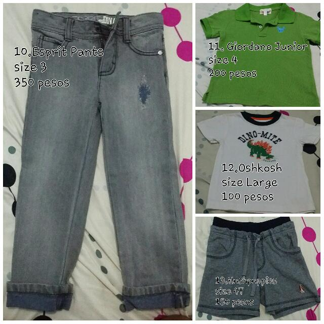 Assorted Branded Clothes