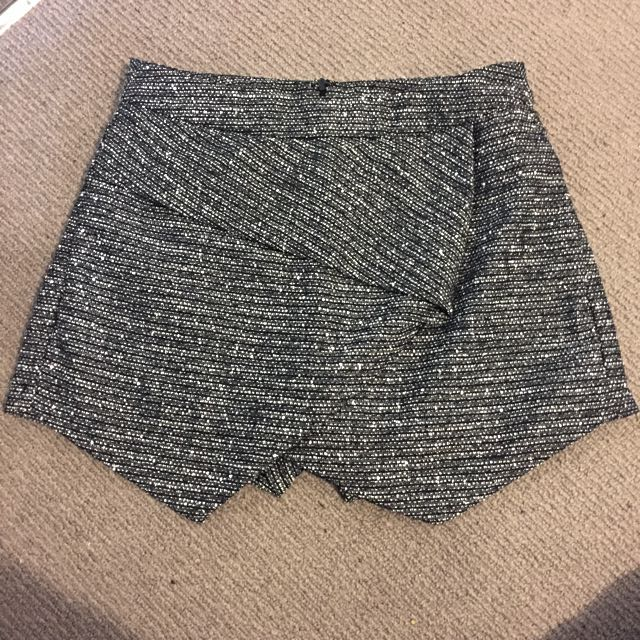Black And White High Waisted Shorts