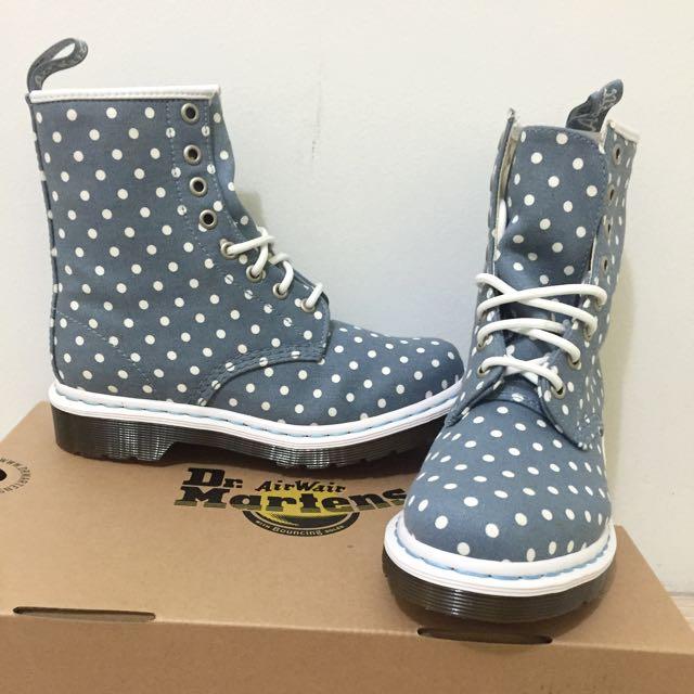 Brand New DR MARTENS Airwair Polka Dot boots Size 6