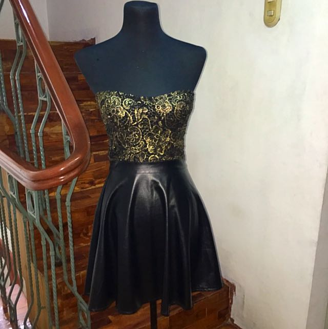Brand New Faux Leather and Lace Dress from Chic a Booti