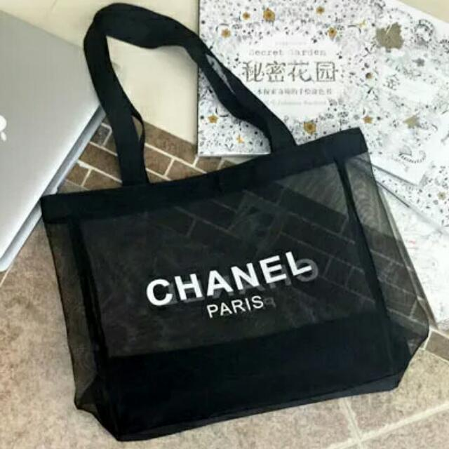Chanel Parfum Transpa Shoulder Tote Bag Luxury Bags Wallets On Carou