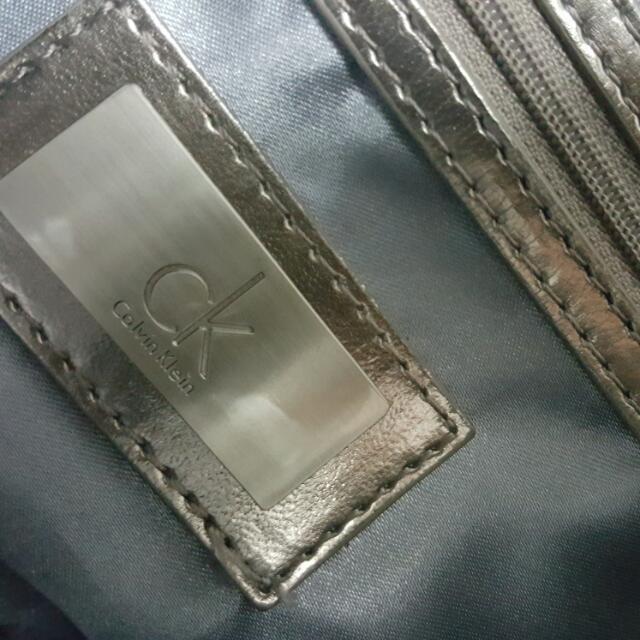 CK 湖水藍灰色手提包/肩背包