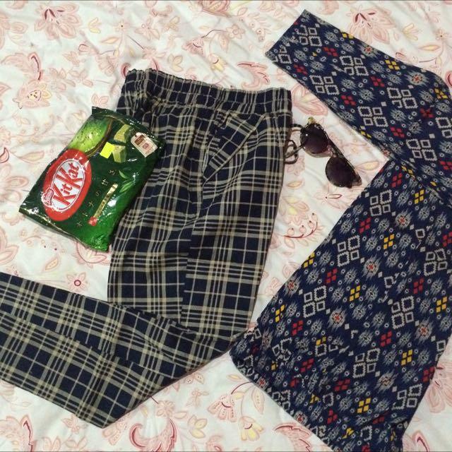 Etnic & Stripe Cotton Pants