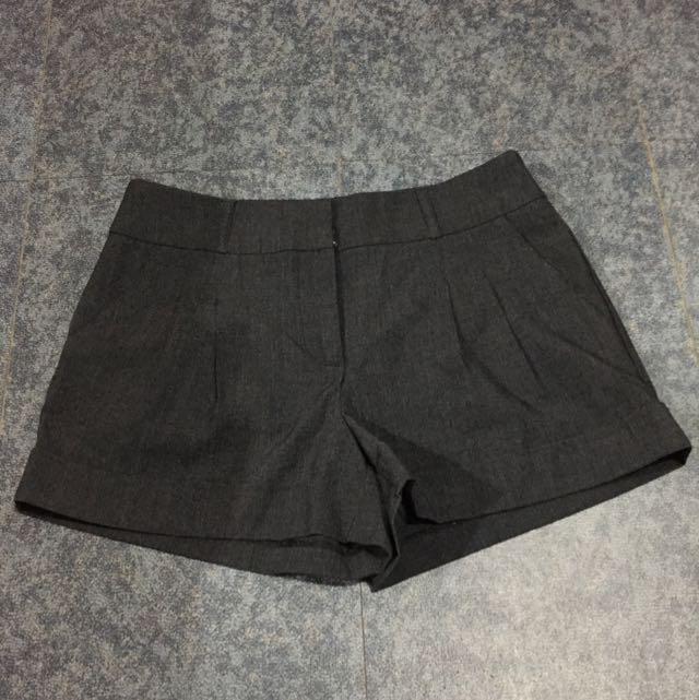F21 Gray Pleated Shorts