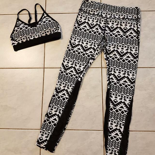 Fitwear Crossfit Tights And Crop Aztec