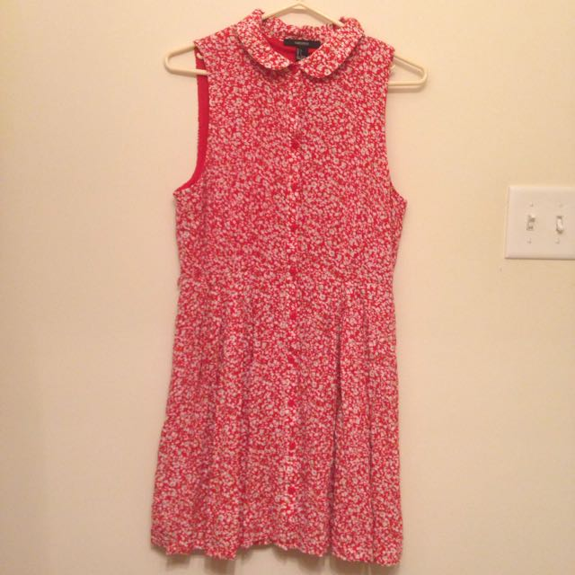 Floral Button Up Dress M