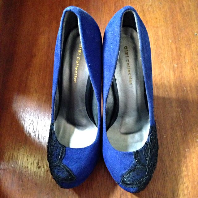 Gibi Blue And black shoes