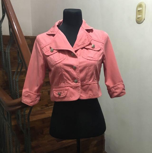 Gray Mice Pink Bolero Jacket