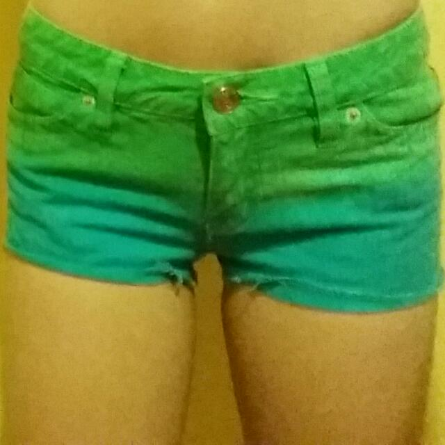 Green And Blue Shorts