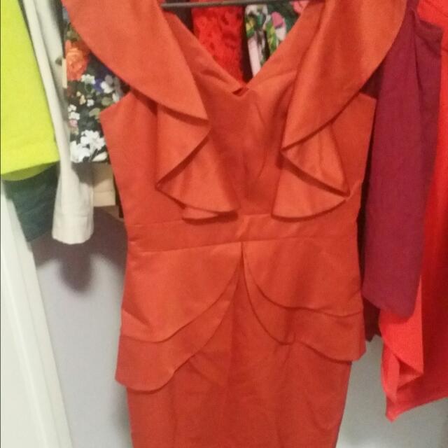 Honey And Beau Burnt Orange Dress