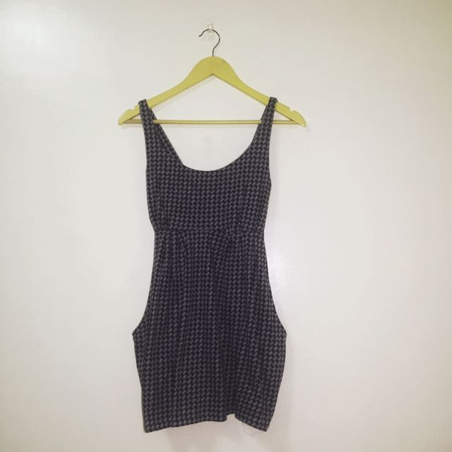 Houndstooth Print Top Or Short Dress