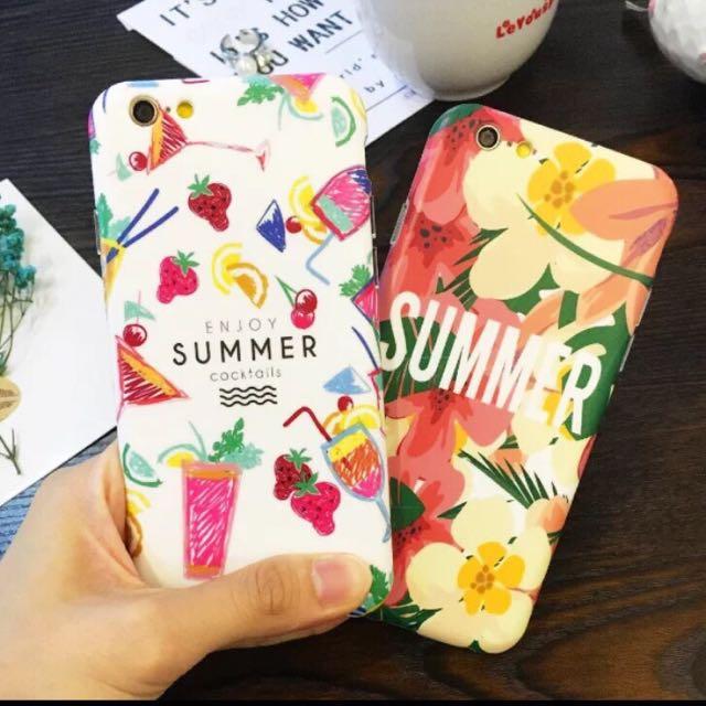 iPhone/夏天花花草草全包軟殼