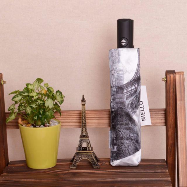 Jessie shop》設計款巴黎鐵塔簡約自動傘