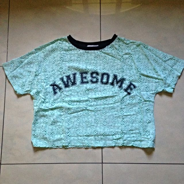 "Just G ""Awesome"" Crop Top"