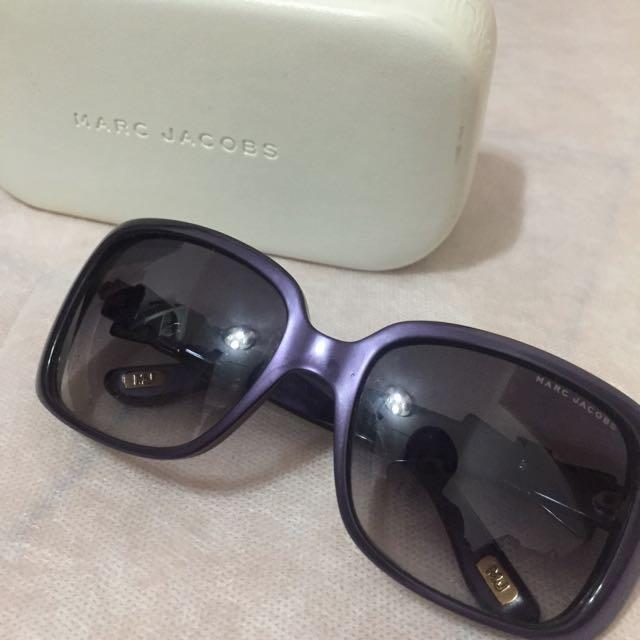 Marc Jacobs 紫色蝴蝶結方框太陽眼鏡