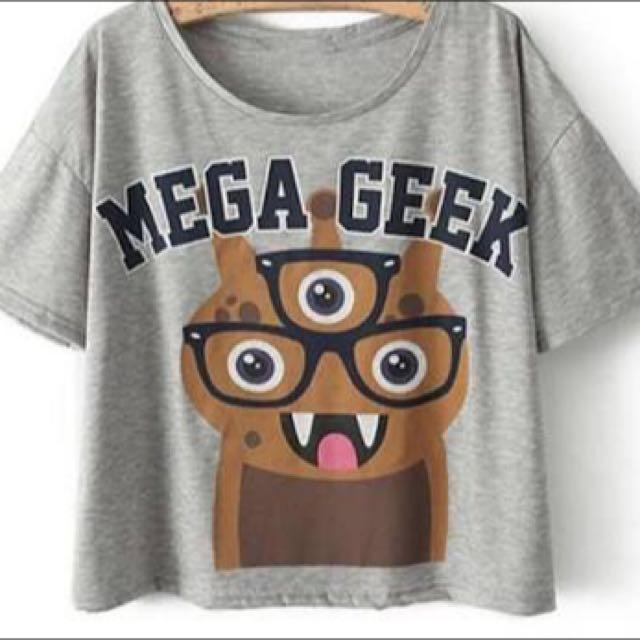Mega Geek Crop Top