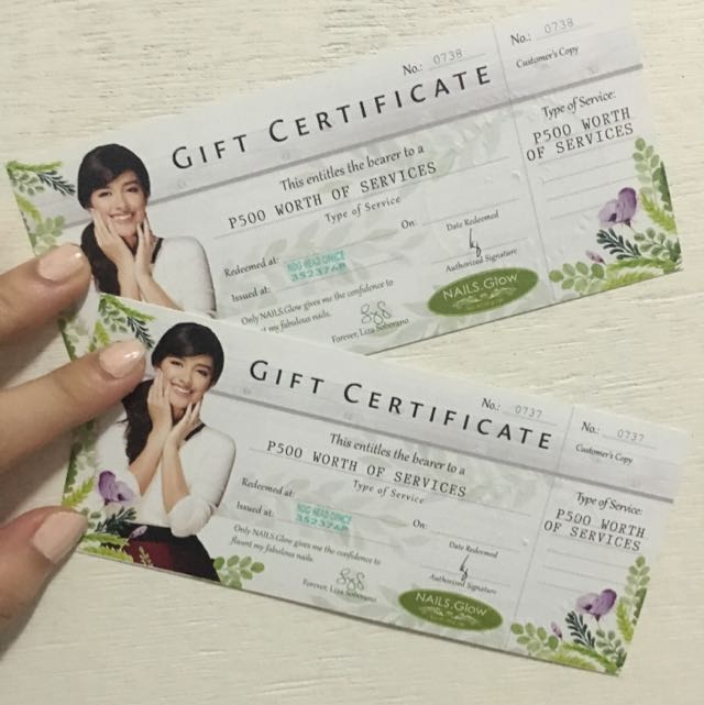 Nails Service Gift Certificate