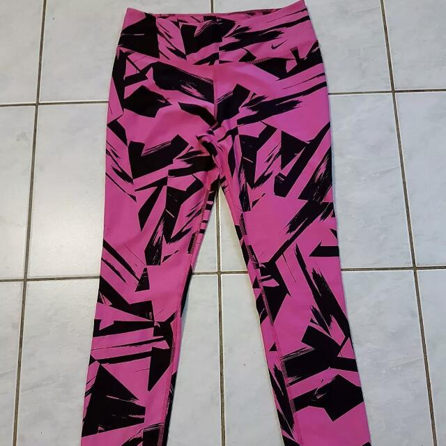 Nike Dri Fit Tights Pink Size M as New