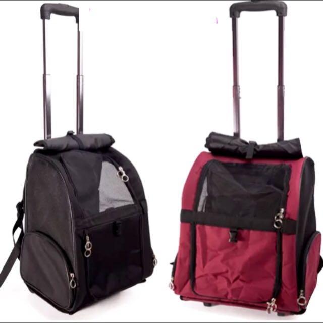 Pet cat dog trolley bag / backpack/ carrier, Pet Supplies on