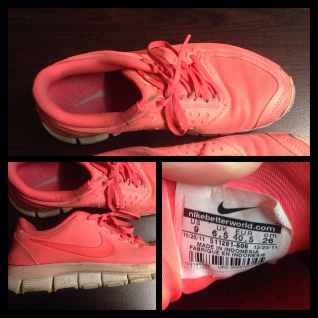 Pink Nikes Size 9