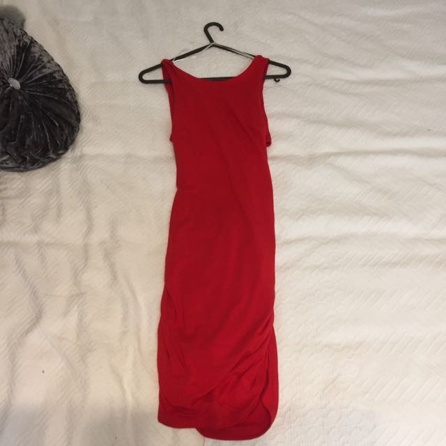 Red Cut Out Paradisco Dress