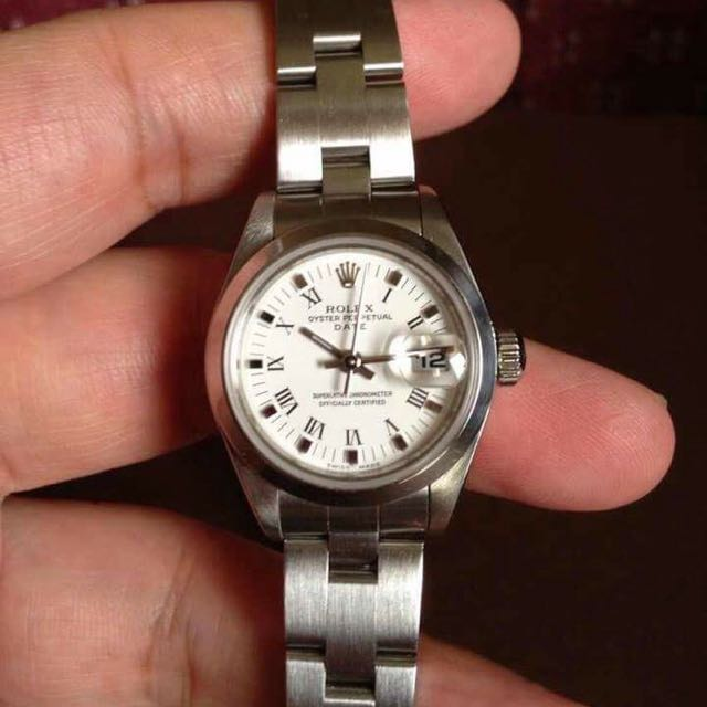 Rolex Oyster Perpetual Date Ladies All Steel