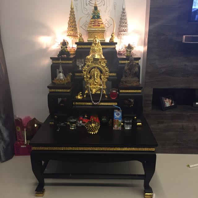 Thai Buddha Altar Table, Furniture on Carousell